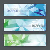 Set of banners with geometric background — Vector de stock