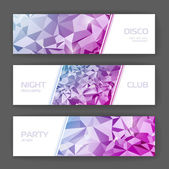 Set of banners with geometric background — Stock Vector