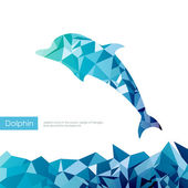 Triangle dolphin — Stock Vector
