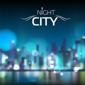 Abstract blur night city background — ストックベクタ