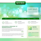 Web site design. Ecology background — Stock Vector