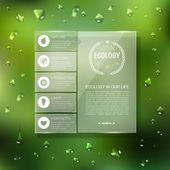 Website template design. Ecology background — Vector de stock