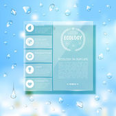 Website template design. Ecology background — ストックベクタ
