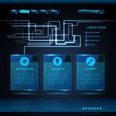 Website template design. Technology background — Stock Vector