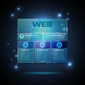 Website template design. Technology background — Vector de stock