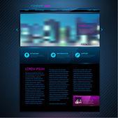 Website template design. Technology background — Vetorial Stock