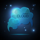 Cloud speech bubble — Stock Vector