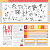 Flat web site design. — Stock Vector