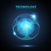 абстрактная 3d технологии-сферы. — Cтоковый вектор