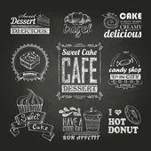 Chalk calligraphic drawing. typography design, — Stockvektor