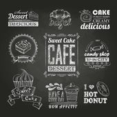 Chalk calligraphic drawing. typography design, — Stock vektor