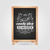 Chalk drawings. Retro typography. Candy — Stockvektor