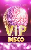 Disco poster. Disco background. — Vector de stock