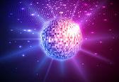 Fondo de bola de discoteca — Vector de stock
