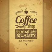 Vintage coffee typography background — Stock vektor