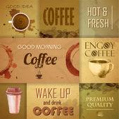 老式的咖啡设计元素的集合 — 图库矢量图片