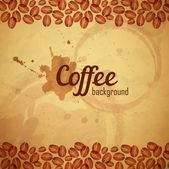 Vintage coffee  background — Stock Vector