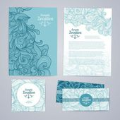 Corporative identity desing. Osean summer decorative background — Stok Vektör