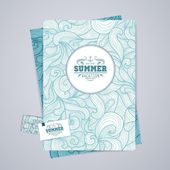 Corporative identity desing. Osean summer decorative background — Wektor stockowy