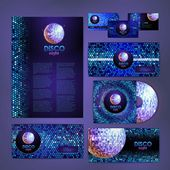 Corporative identity desing. Disco bakground — 图库矢量图片