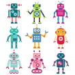 Robots set - Stock Vector