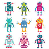Robot seti — Stok Vektör