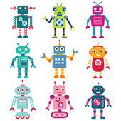Set di robot — Vettoriale Stock