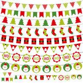 Zestaw świątecznych dekoracji — Wektor stockowy