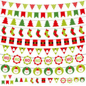 圣诞装饰设置 — 图库矢量图片