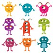 Friendly monsters set - Stock Vector