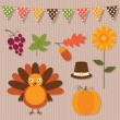 Thanksgiving set - Stock Vector