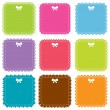 Cute square frames set — Stock Vector #14049090