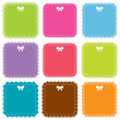 Cute square frames set - Stock Vector