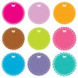 Cute circle frames set — Stock Vector #14049092