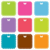 Cute square frames set — Stock Vector