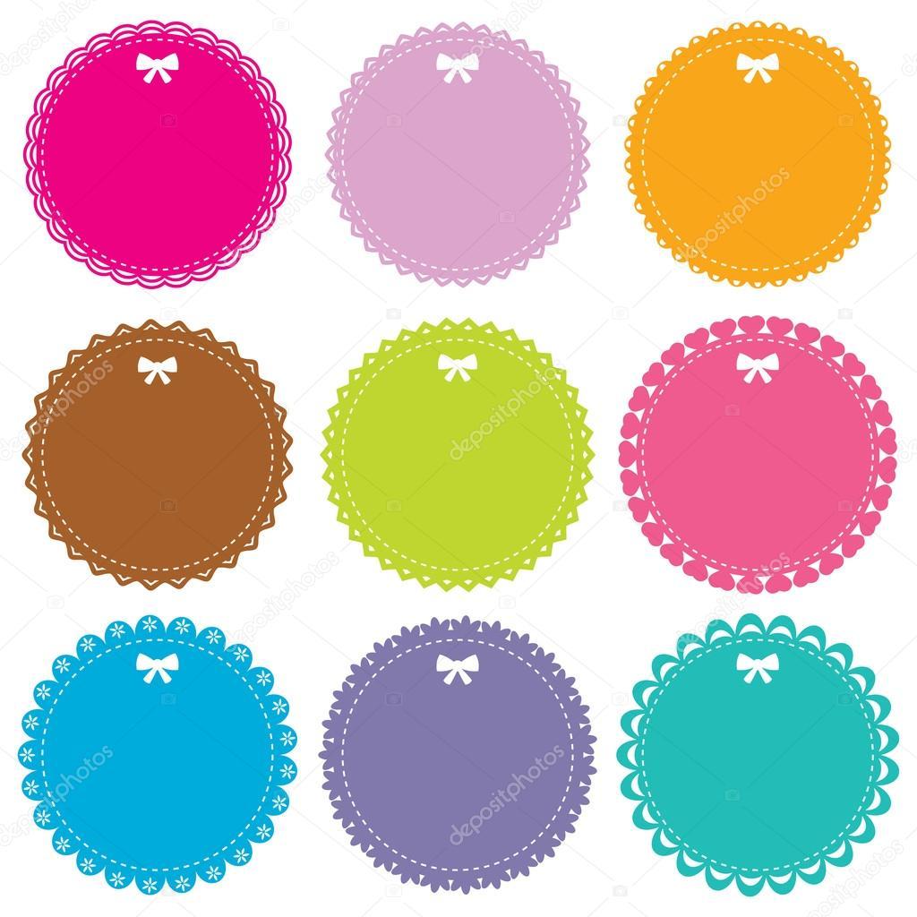 Cute circle frames set — Stock Vector © lattesmile #14049092