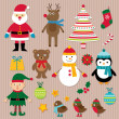 Chrisrmas design elements vector set - Stock Vector
