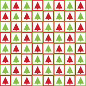 Seamless Christmas tree pattern — Stock Vector