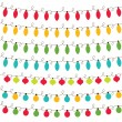 Christmas lights set - Stock Vector