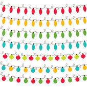 Christmas lights set — Stockvector