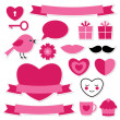Valentine's design elements — Image vectorielle