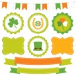 St. Patrick's Day design elements — Stock Vector