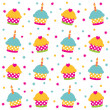 Birthday seamless pattern — Stock Vector