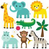 Conjunto de animais fofos — Vetorial Stock