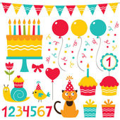 Birthday party set — Stock Vector