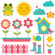 Spring design elements set — Stock Vector #21890083