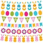 Easter garlands set — Stock Vector