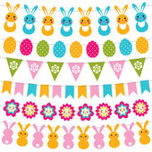 Easter garlands set — Stock Vector