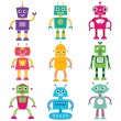Cute robots set - Stock Vector
