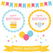 Birthday elements set - Stock Vector